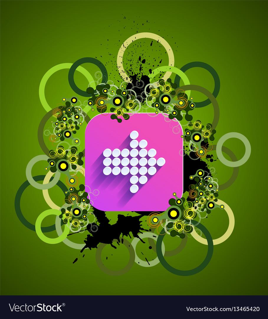 Grunge arrow icon vector image