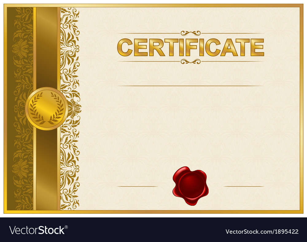 Elegant template of certificate diploma royalty free vector elegant template of certificate diploma vector image yadclub Image collections