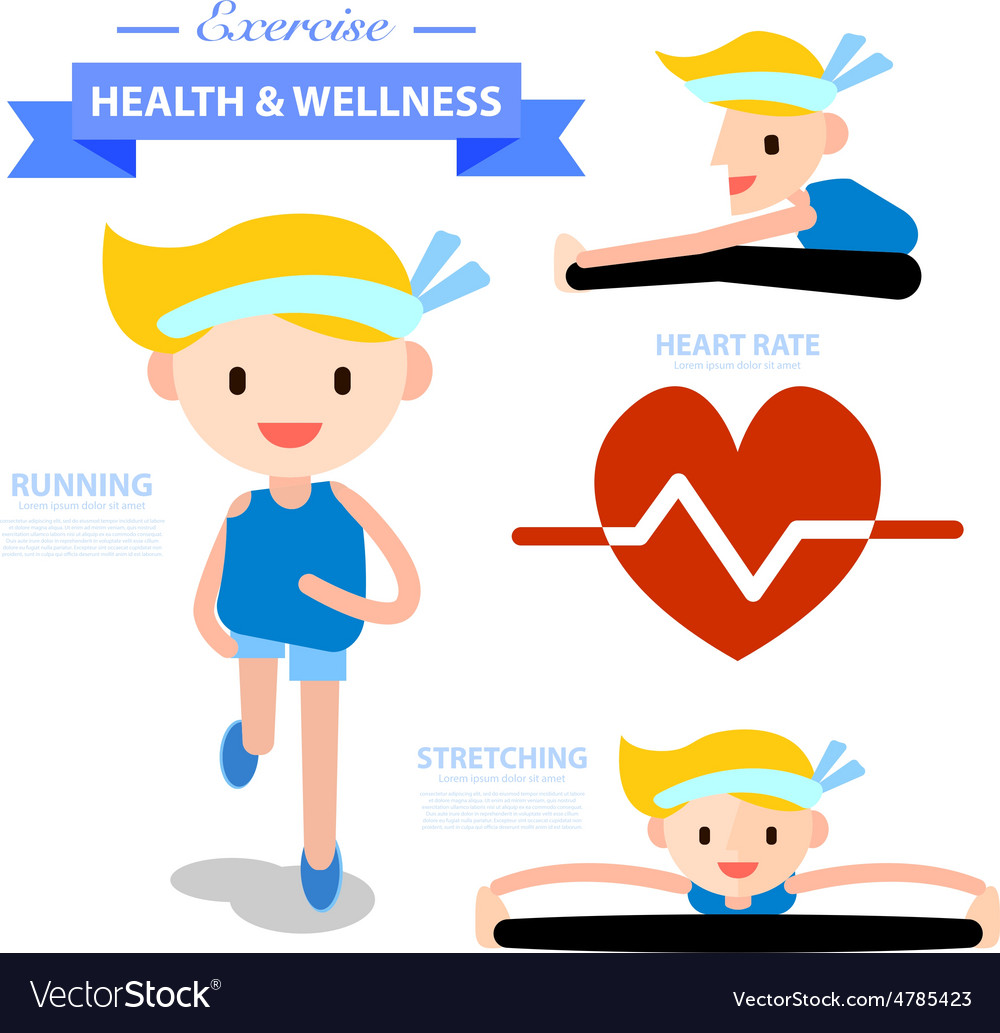 Diseases Physical Ailments: Exercise Health And Wellness Infographic Vector Image