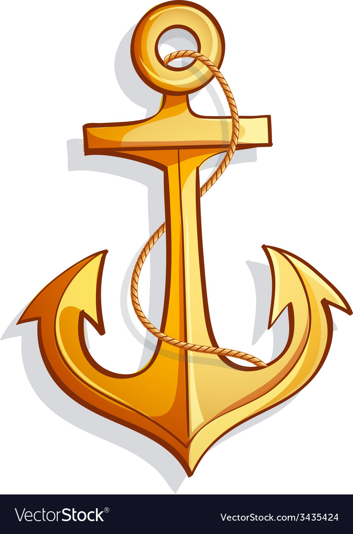 Cartoon anchor vector image
