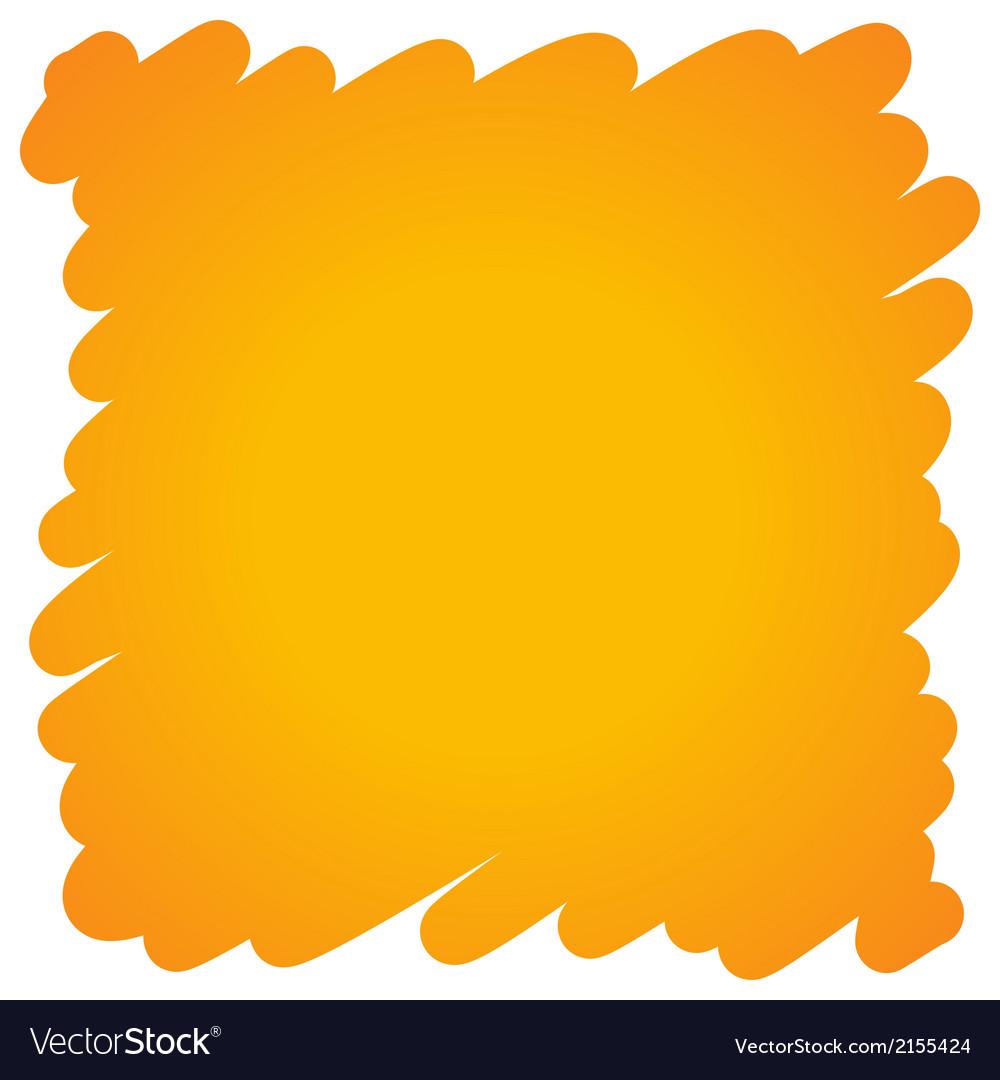 Filled felt pen orange background vector image