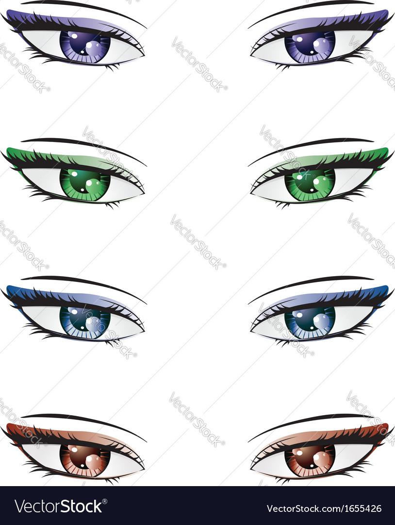 Anime style eyes2 vector image