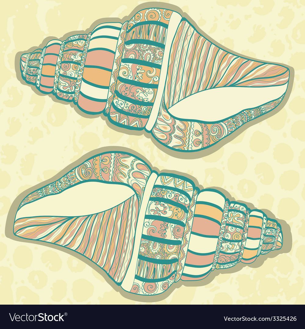 SeaShell22 vector image