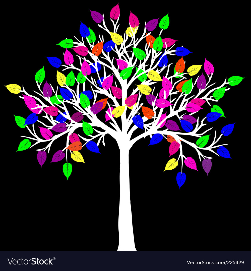 Neon tree vector image