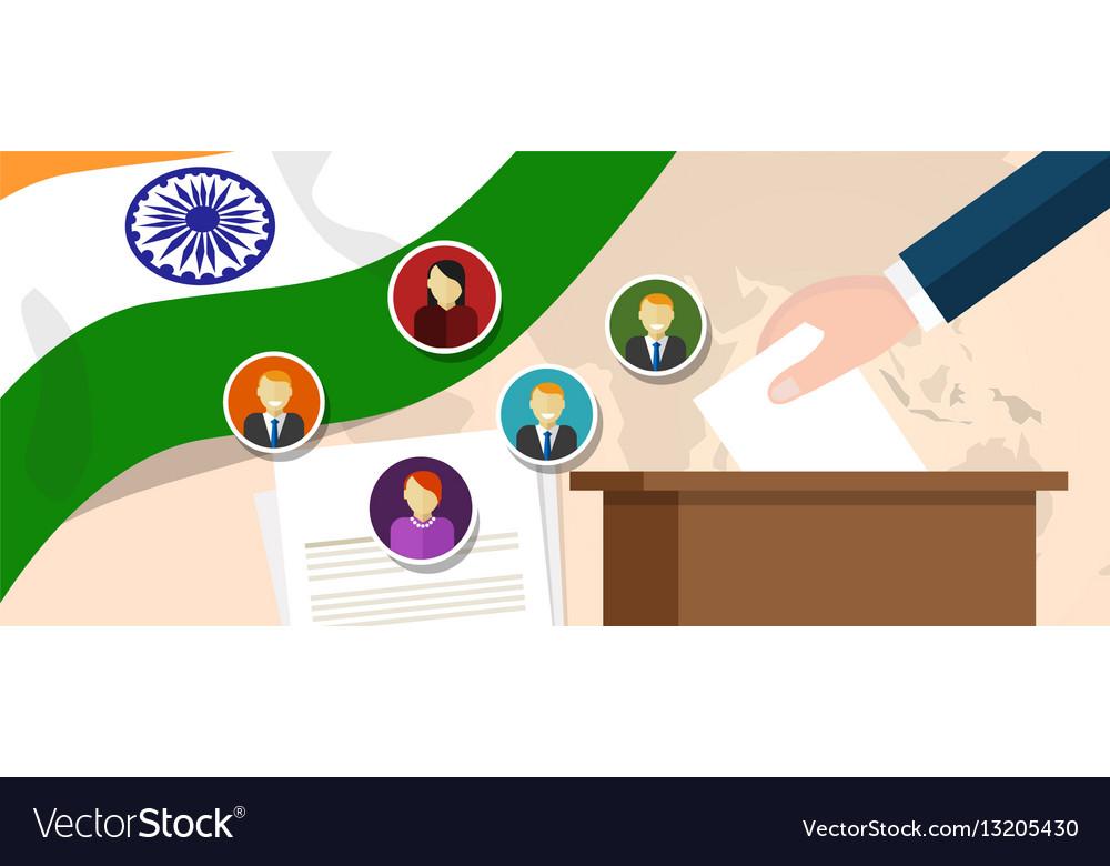 India democracy political process selecting vector image