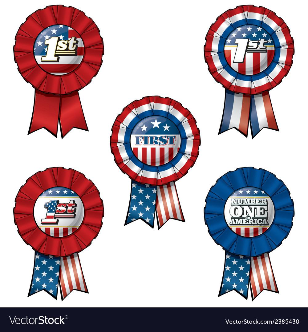 Ribbon USA First vector image