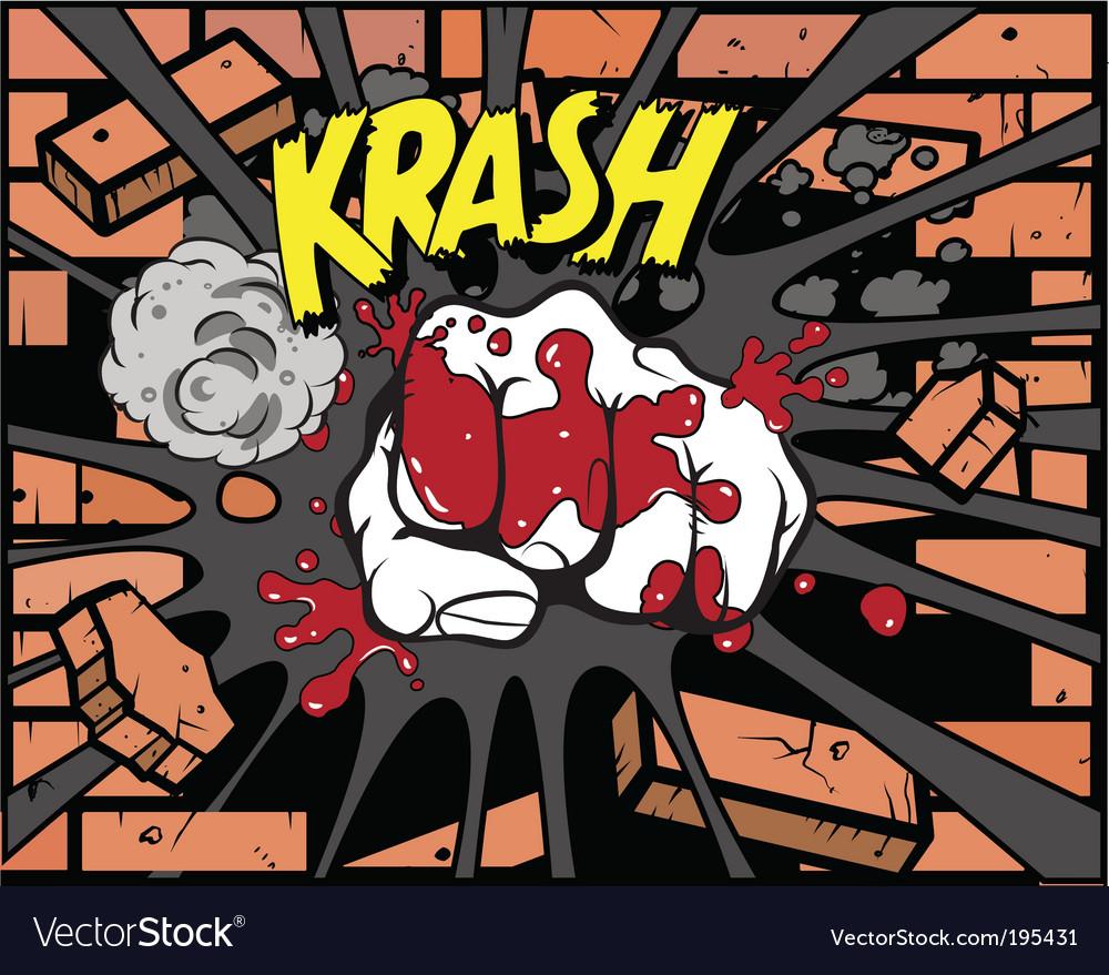 Comic book fist vector image