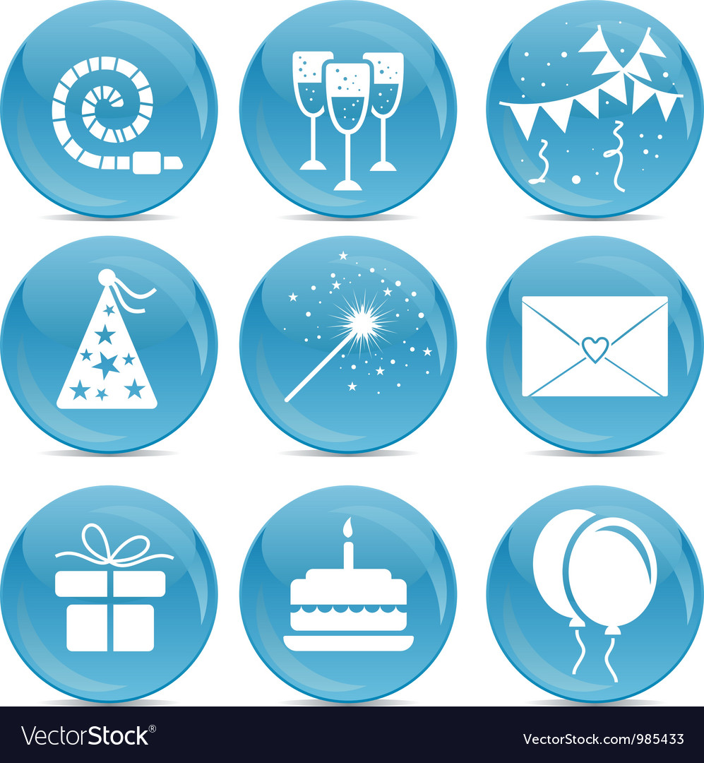 Party web icons vector image