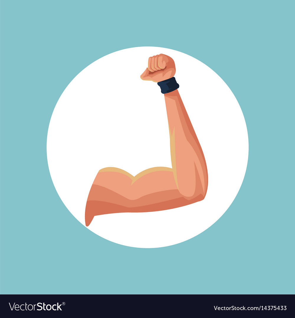 Fitness arm strong image vector image