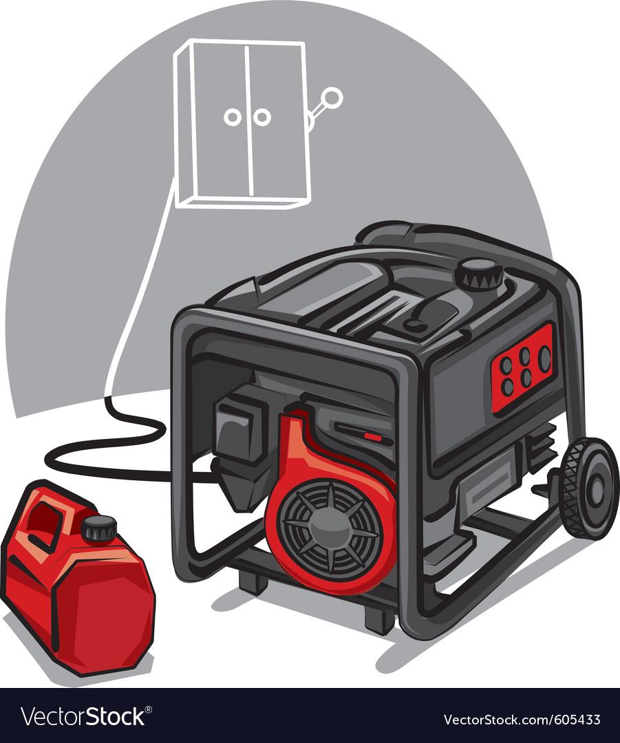 Power Generator Royalty Free Vector Image Vectorstock