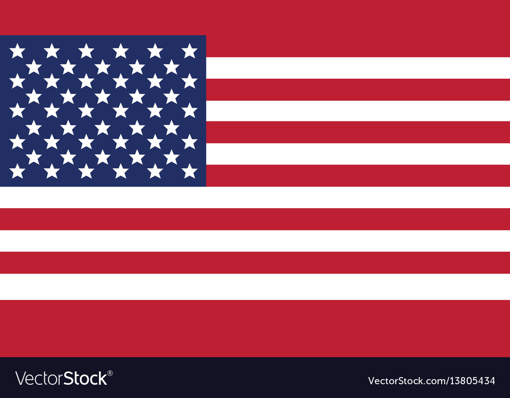 United states of american flag for independence vector image