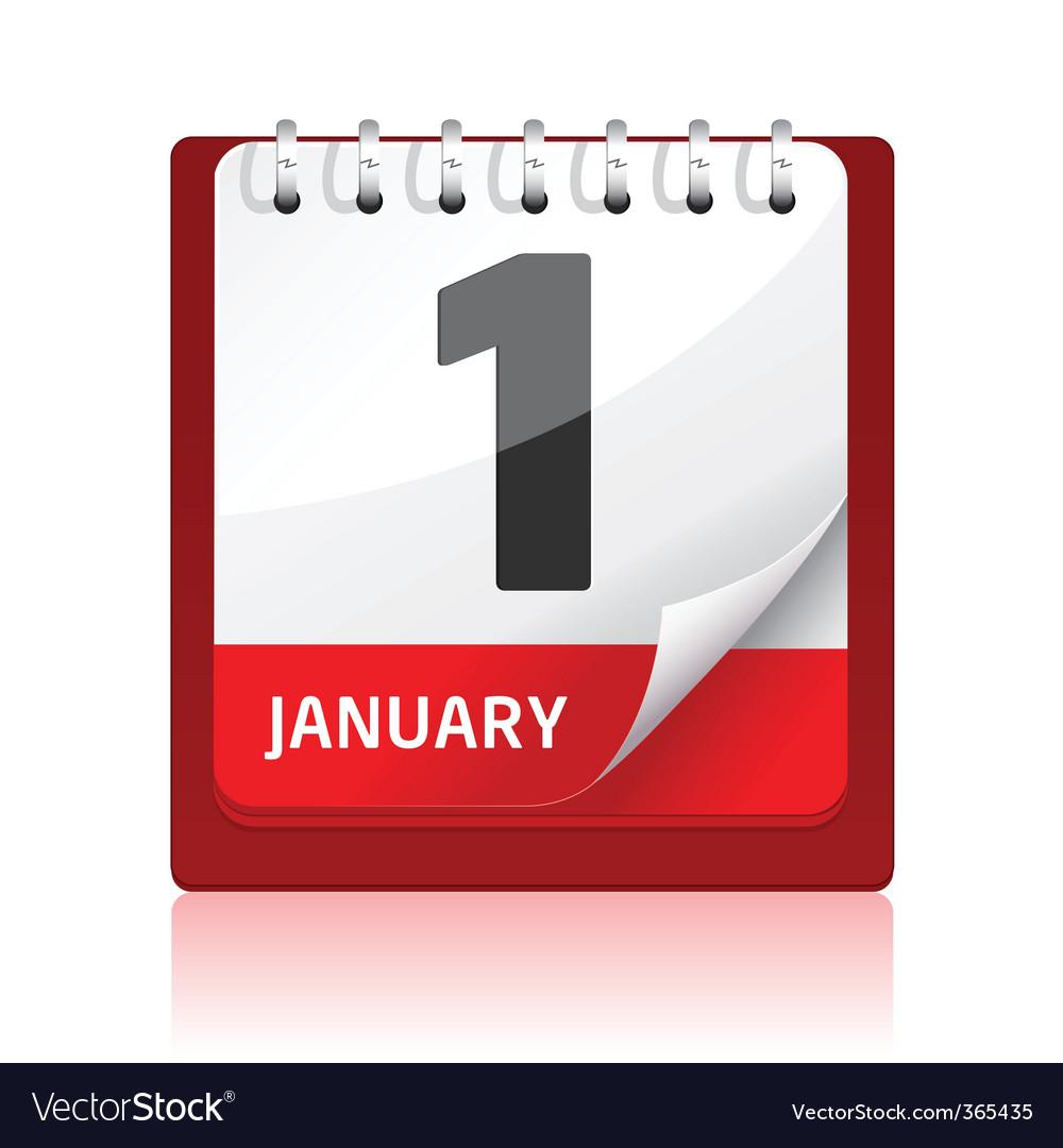 Calendar icon   red vector image