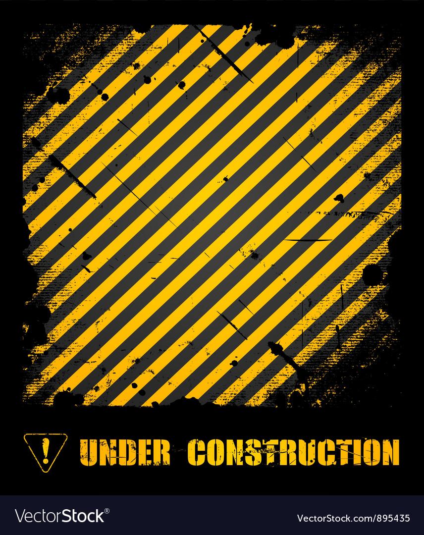Grunge under construction texture background vector image