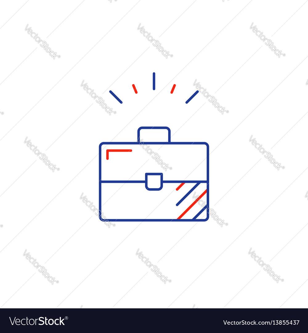 Business development line icon sole entrepreneur vector image