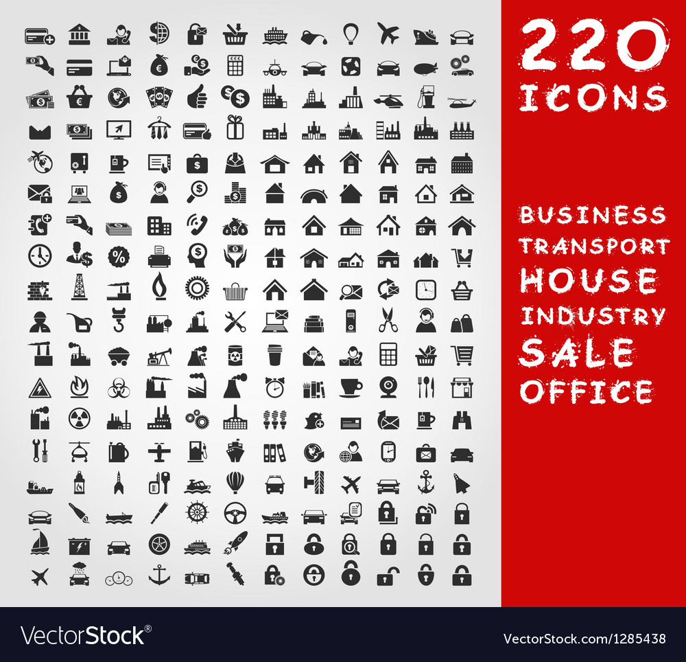 Collection of icons2 vector image