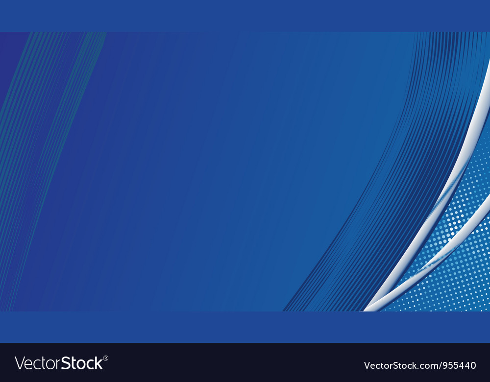 Blue template background vector image