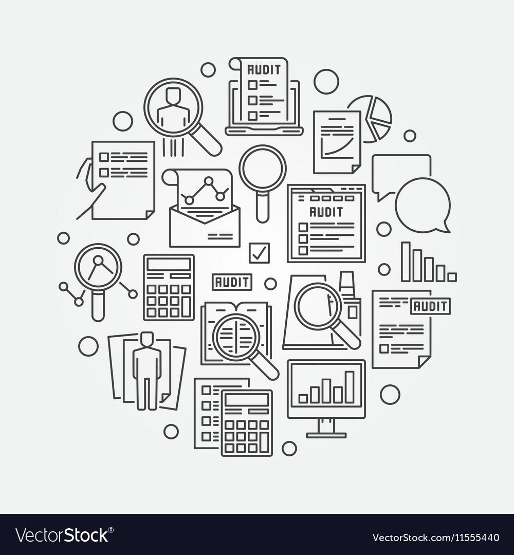 Audit circular linear vector image