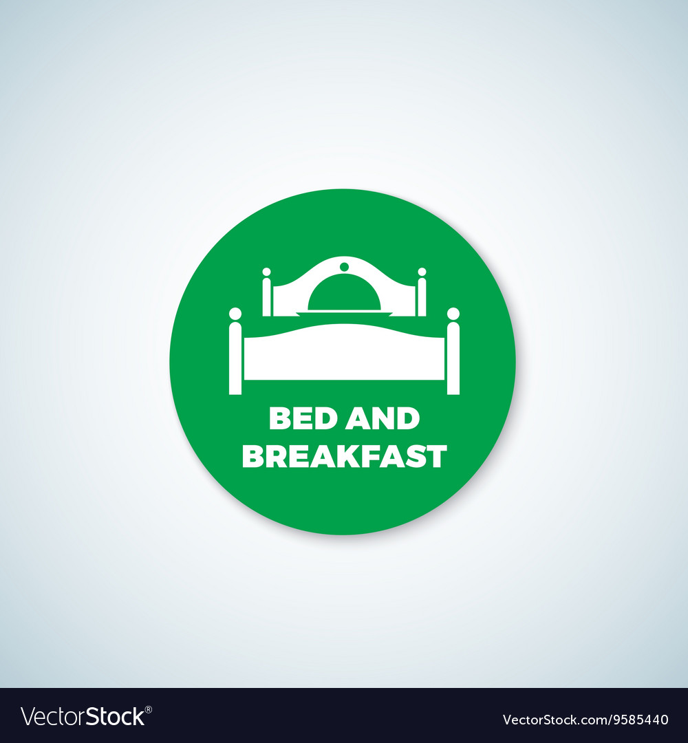 Bed and Breakfast Sticker Dish Cover vector image