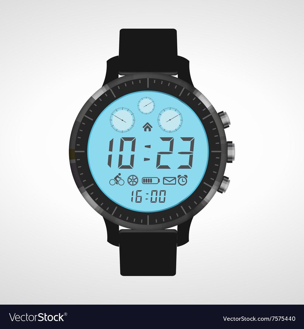 Design watch vector image