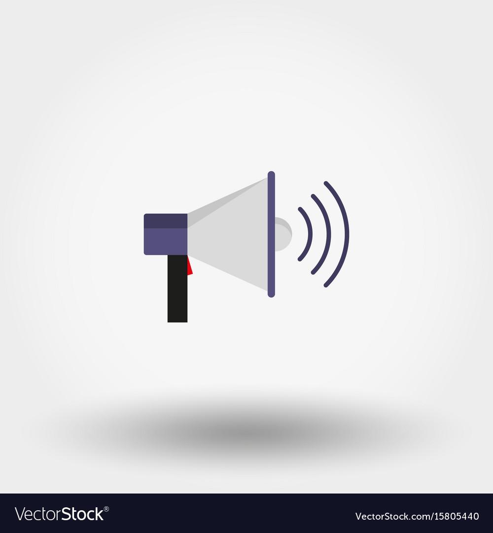 Megaphone icon flat design vector image