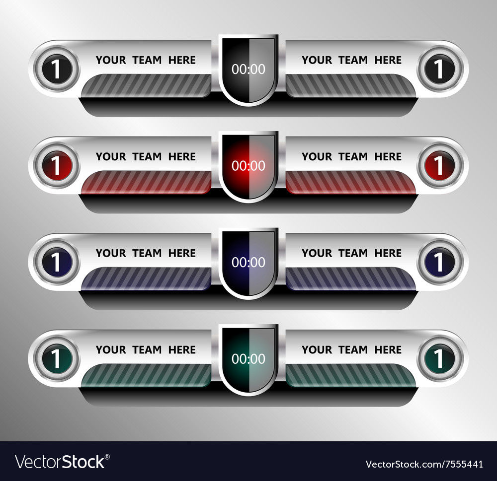 Football and soccer scoreboard template Royalty Free Vector