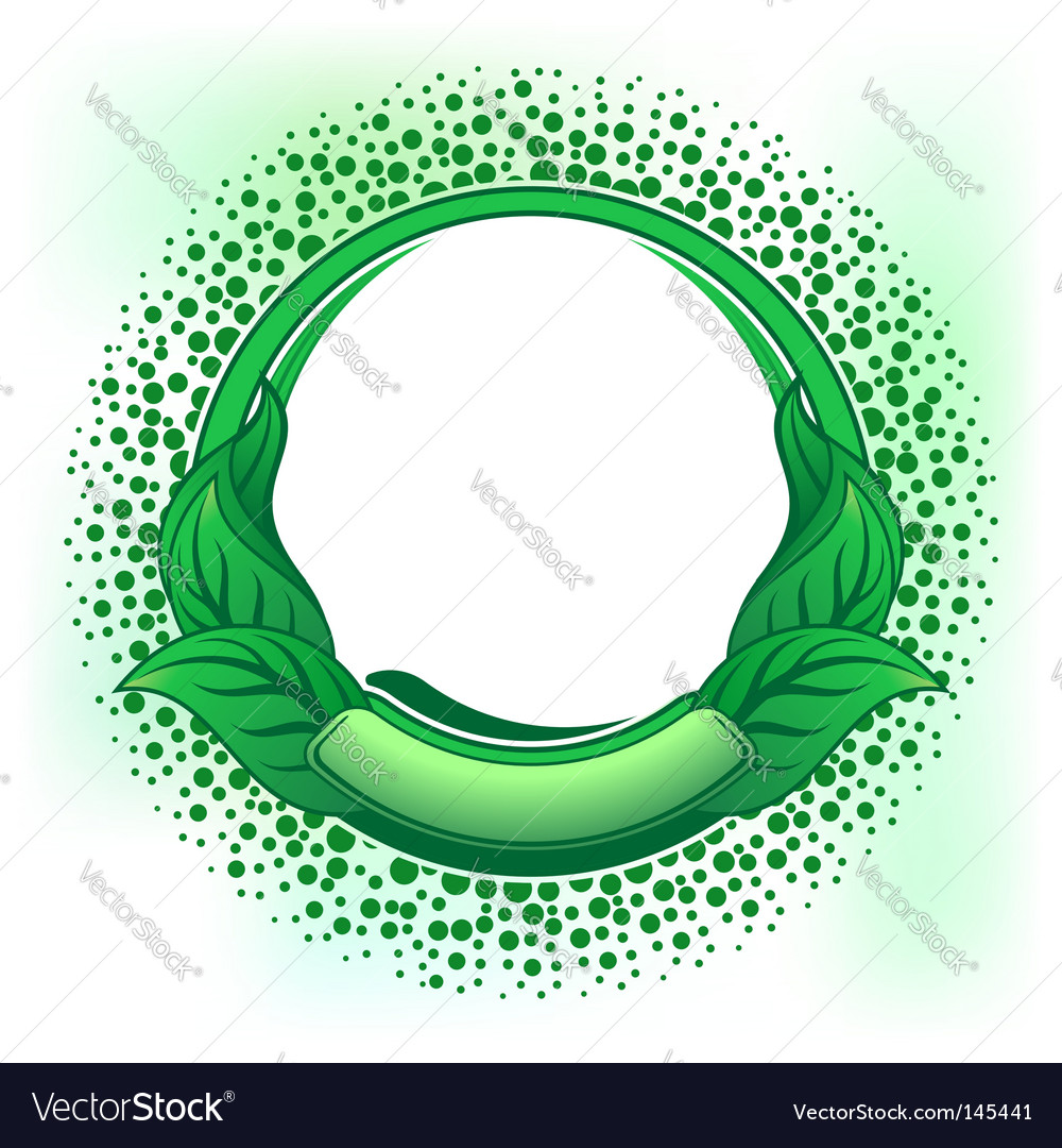 Green frame vector image