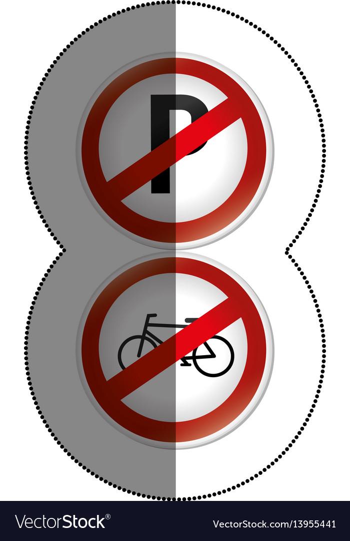 Road traffic signals set vector image