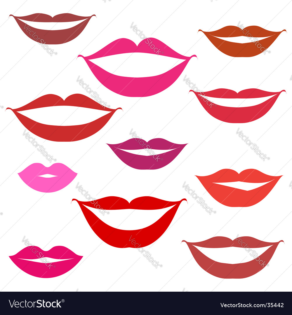 Smiles lips background vector image