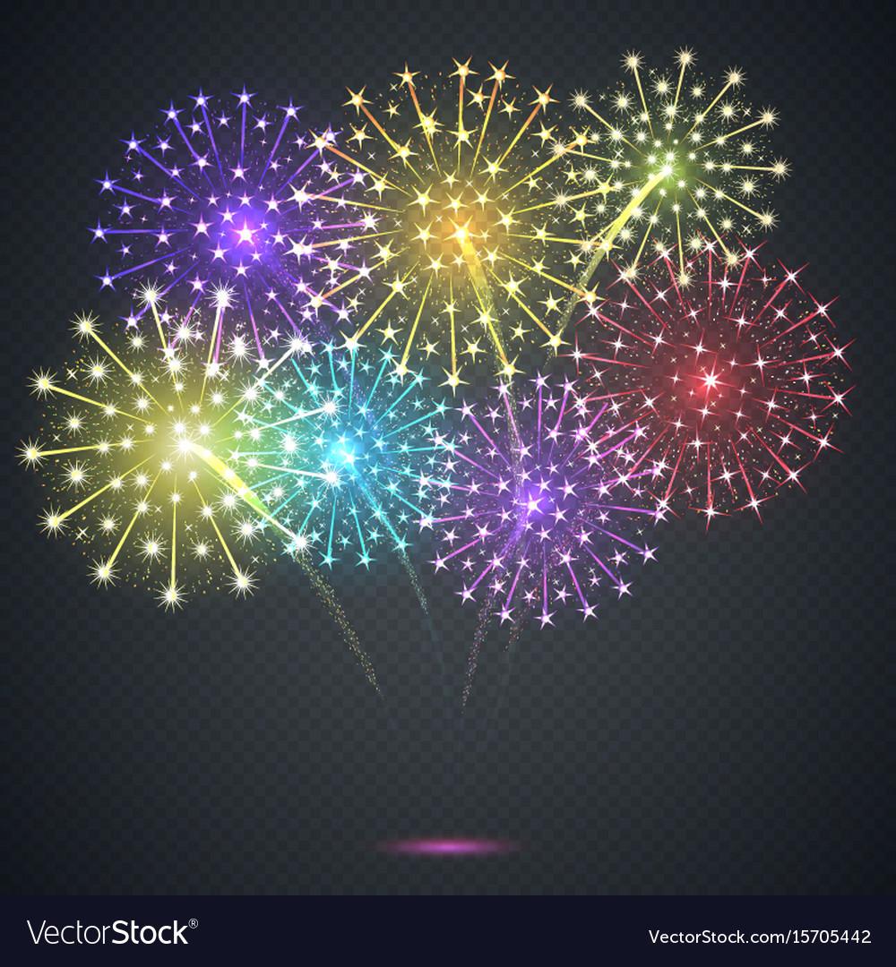 Firework festive explosion vector image