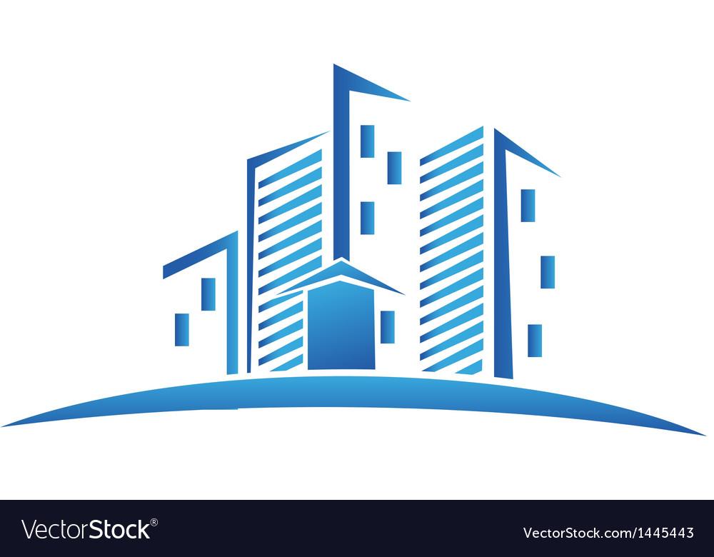 buildings real estate logo royalty free vector image