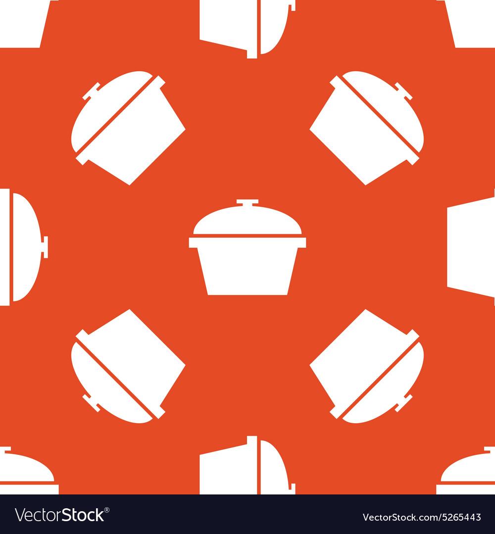 Orange pot pattern vector image