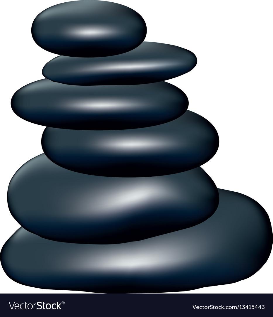 Spa dark gray volcanic rocks vector image