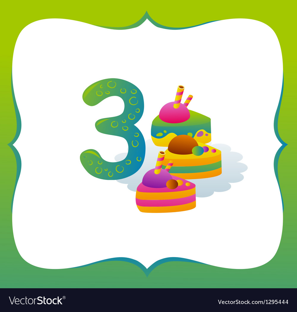 Collection Sweet Numbers for Kids 3 vector image