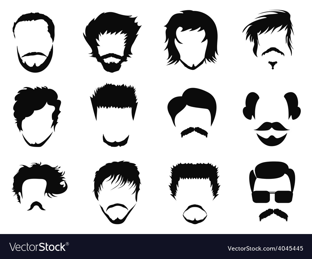 Man hairstyle vector image