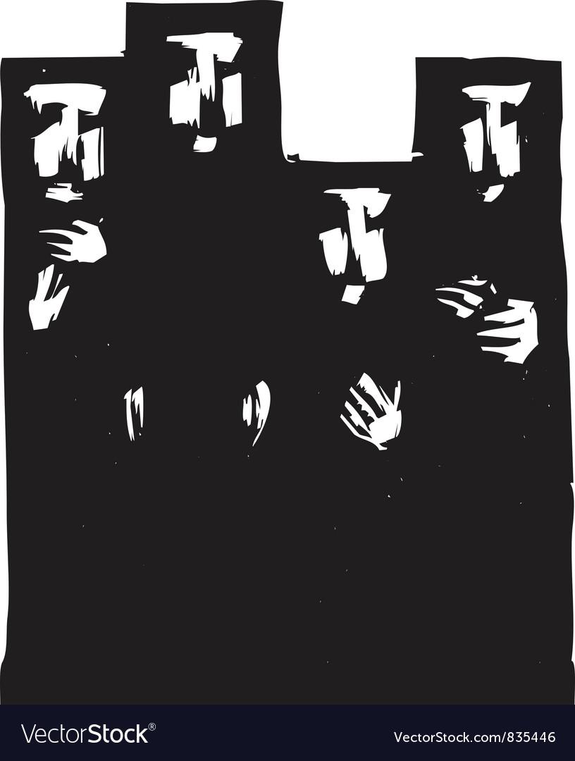 Women in Hijabs vector image