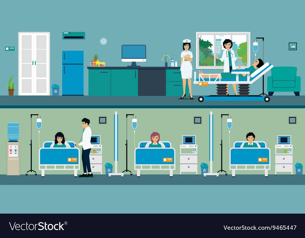 Patient room vector image