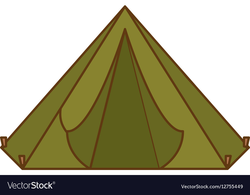 Camp tent icon image vector image