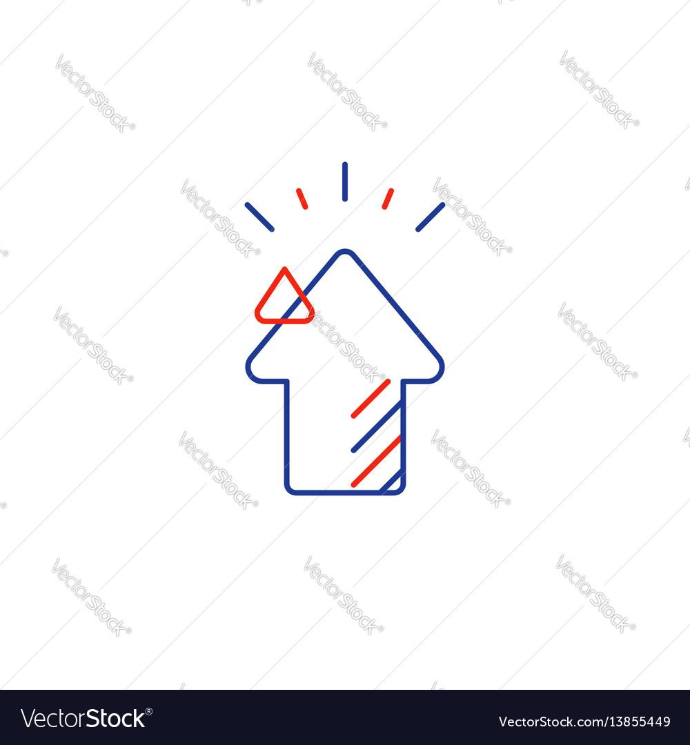 Investment concept business development plan vector image