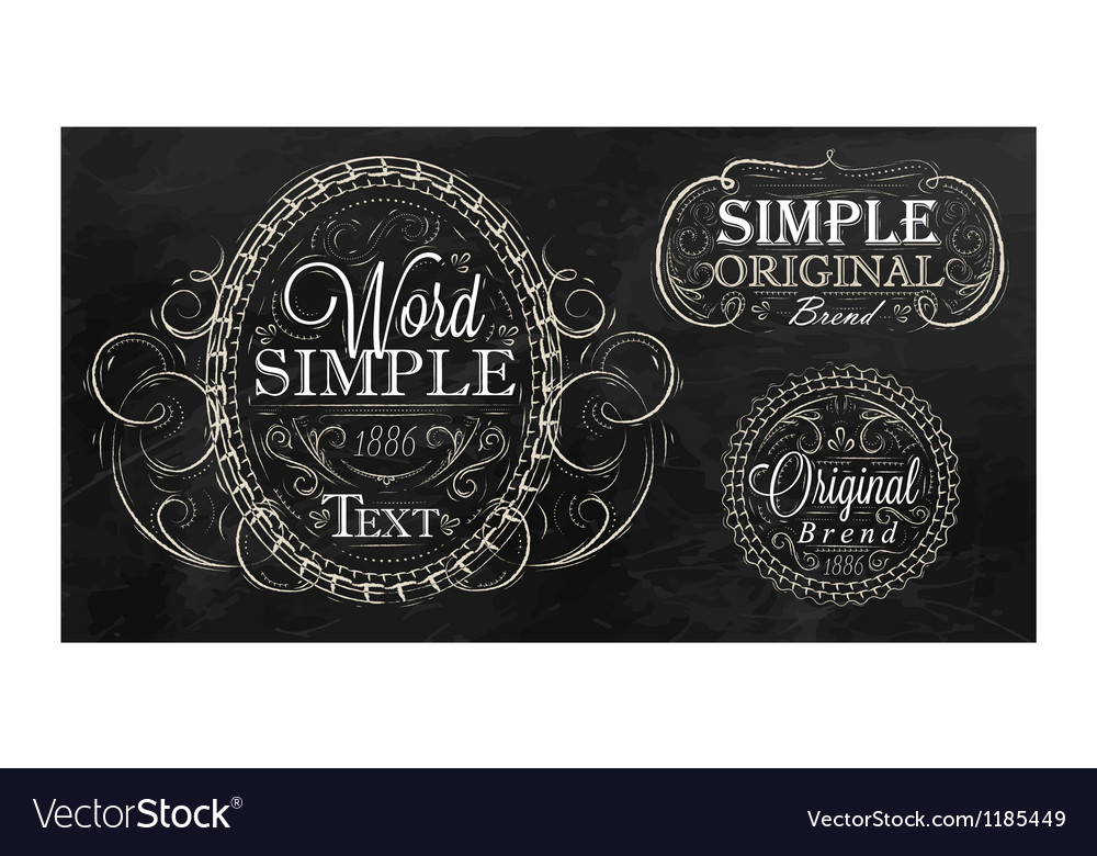 Vintage frame with ornaments vector image
