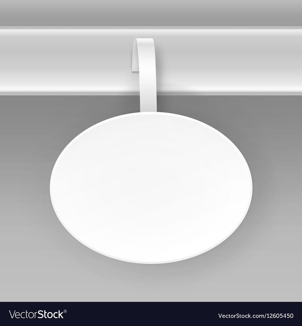 Blank White Oval Paper Advertising Price Wobbler vector image