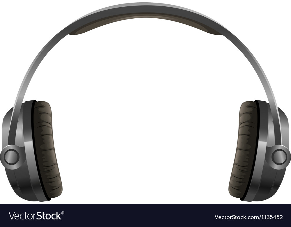 A headphone vector image