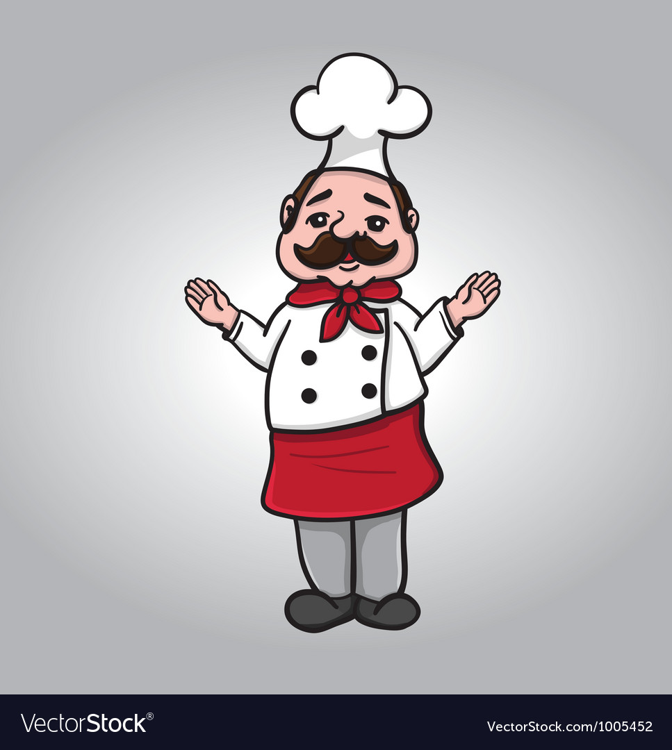 Chef with arms open vector image