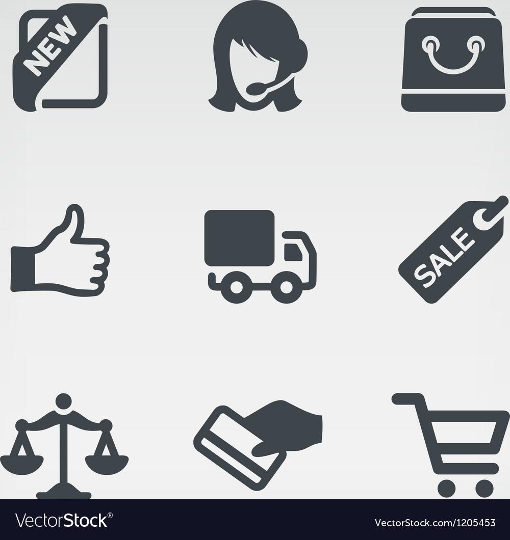 Shopping 1 icon set vector image