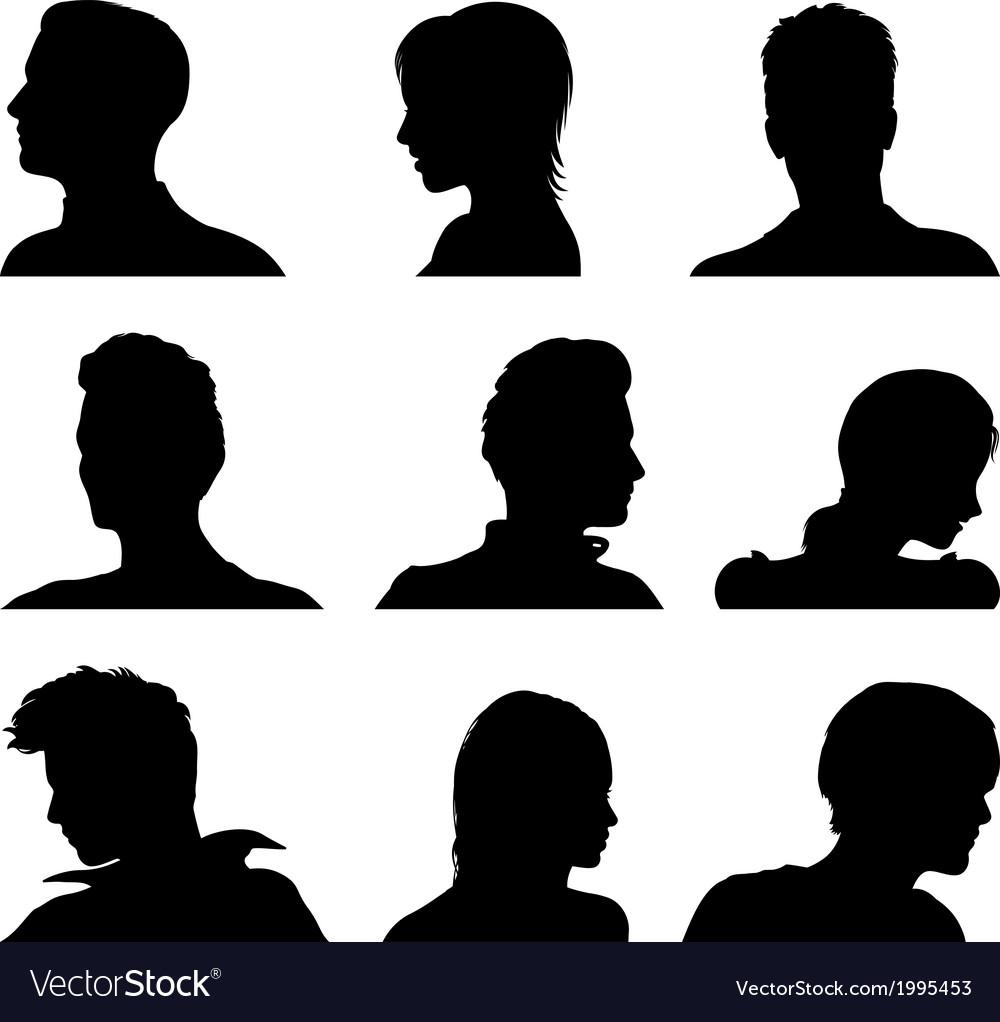 Anonymous avatar set vector image