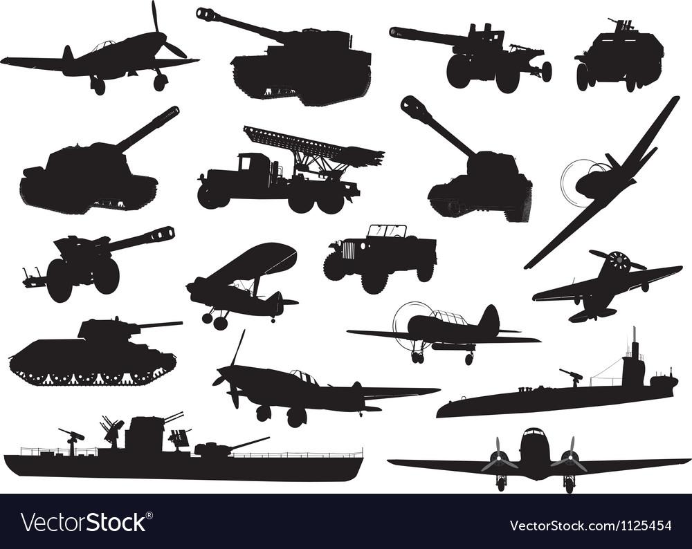 Military ww2 vector image