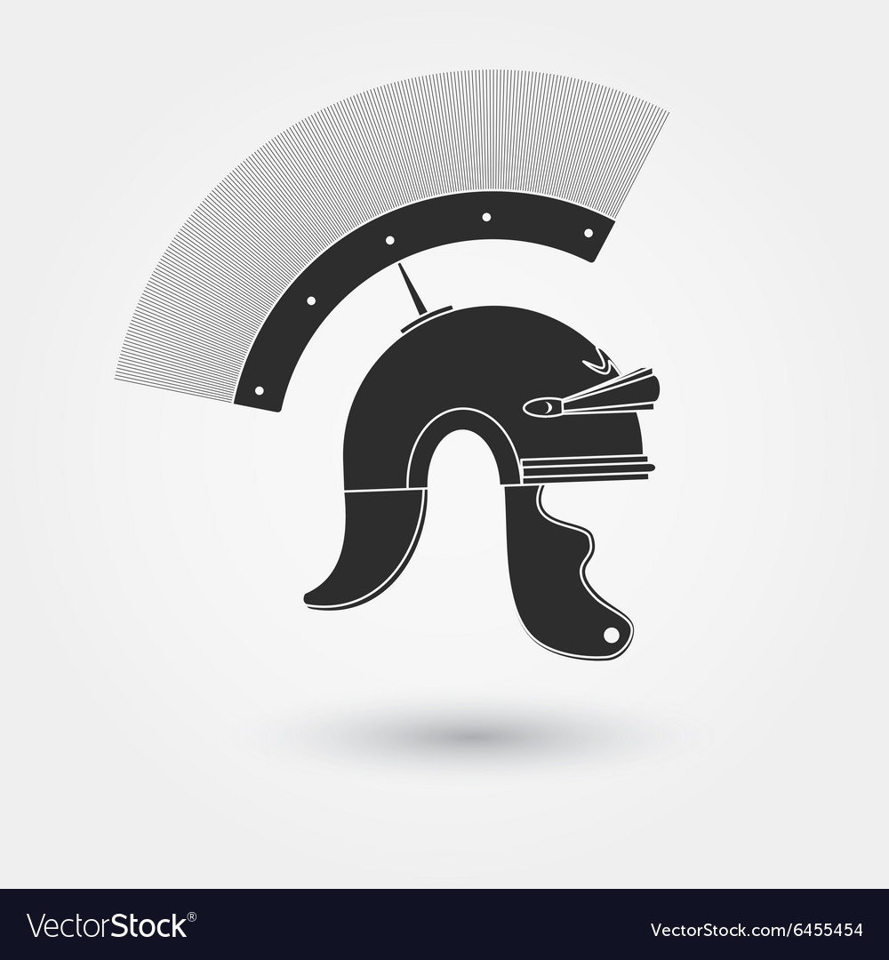 Spartan warrior Helmet vector image