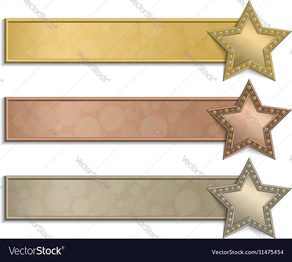 Star posters vector image