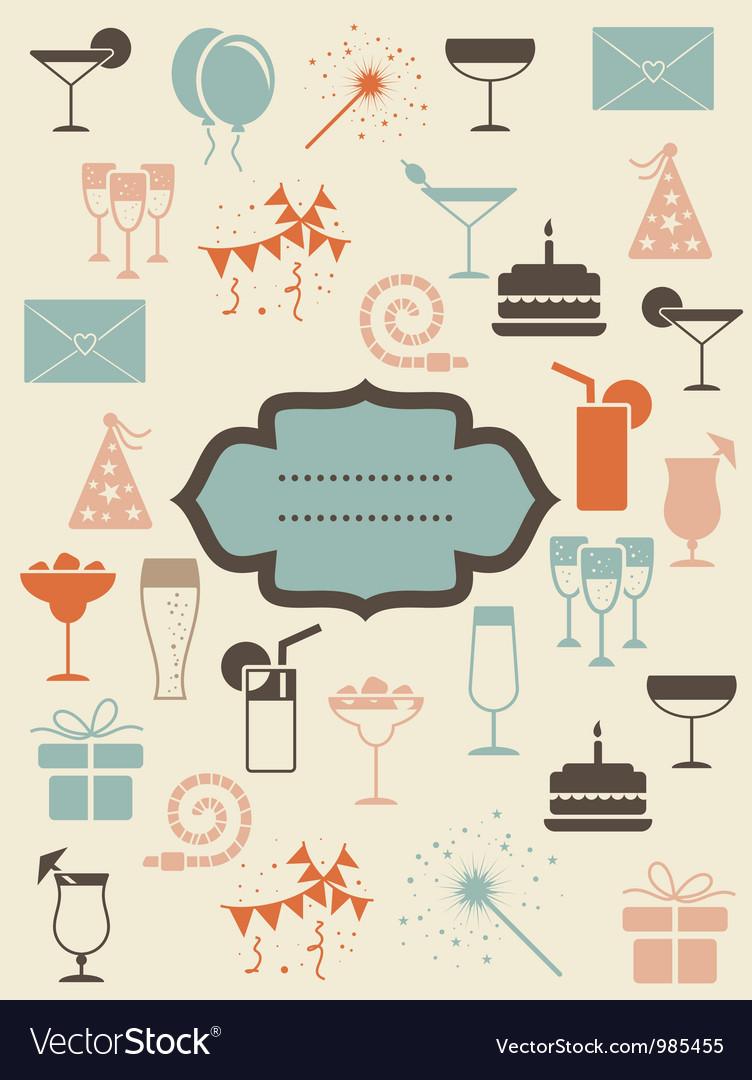 Vintage restaurant poster vector image