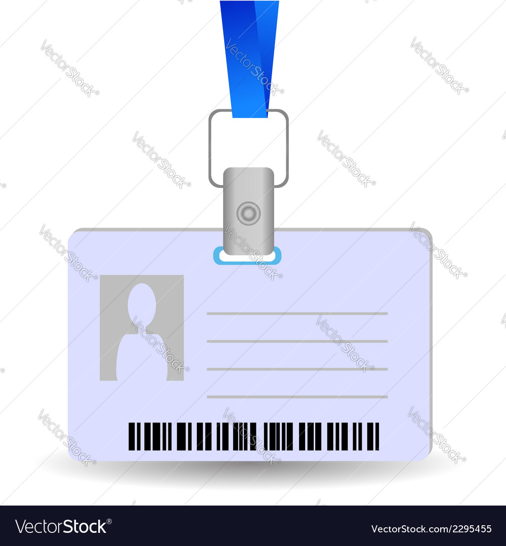 Name tag holder vector image