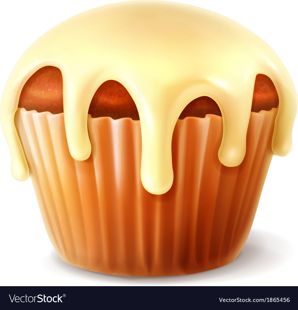 Cupcake detailed vector image